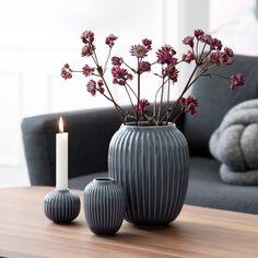 Nyhed stor grå Hammershøi vase fra Kähler hos Barkshop
