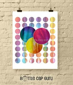 Rainbow Checkered Spheres / 1 Inch Round Abstract Digital Collage Sheet / Bottle Cap Images // P Digital Form, Digital Collage, Digital Image, Bottle Cap Images, Abstract Images, Collage Sheet, Printables, Rainbow, Creative