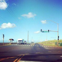 De camino a la North Shore de Oahu, Hawaii.