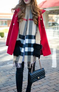 burberry-scarf-with-red-coat
