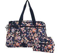 369e741076ac Vera Bradley Lighten Up Weekender Travel Bag w Cosmetic Case
