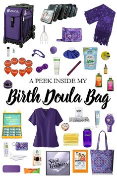 Every doula's birth bag is unique and this week I thought I'd share mine. Baby Massage, Prenatal Massage, Doula Certification, Doula Business, Massage Business, Becoming A Doula, Birth Partner, Doula Training, Doula Services