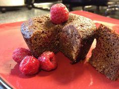 Grain-Free Chocolate Raspberry Muffins - coconut flour, cocoa powder, honey