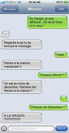 Funny Quotes : Mauvais destinataire: - The Love Quotes Funny Sms, Funny Messages, Funny Texts, Funny Jokes, Hilarious, Memes Humor, Funny Humour, Funny Images, Funny Pictures