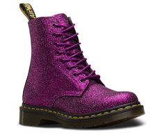 Doc Martens Just Dropped Glittery Boots That Will Literally Give You Twinkle Toes Doc Martens Outfit, Doc Martens Style, Doc Martens Boots, Ankle Boots, Combat Boots, Shoe Boots, Women's Boots, Shoes Sandals, Doc Martens Stiefel