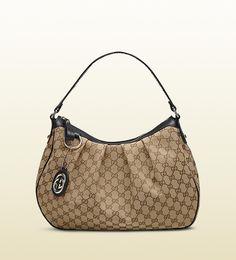 Gucci Sukey Beige Hobo Bag with Leather Brown Trim! Popular Handbags, Cheap Handbags, Gucci Handbags, Hobo Handbags, Luxury Handbags, Gucci Outlet Online, Gucci Bags Outlet, Chanel Online, Gucci Hobo Bag