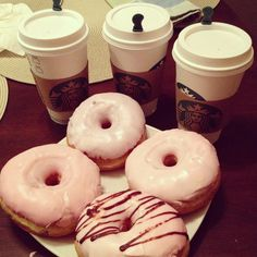 starbucks and donuts