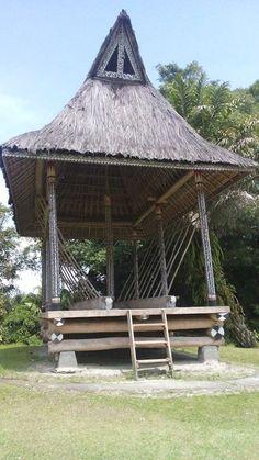 """Rumah Bolon Simelungun"" Simalungun King's Palace , Pematang Purba, North Sumatra (now a museum)"