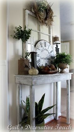 Use old window pane as backdrop on table