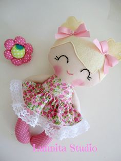 Handmade cloth dollGirl giftRagdollCloth by lunnitastudio on Etsy