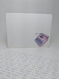 Vintage Typewriter Notecard Set | Etsy Birthday Gifts For Boyfriend, Boyfriend Gifts, Short Messages, Vintage Typewriters, Funny Mugs, Note Cards, Gifts For Mom, Personalized Gifts, Geek Stuff