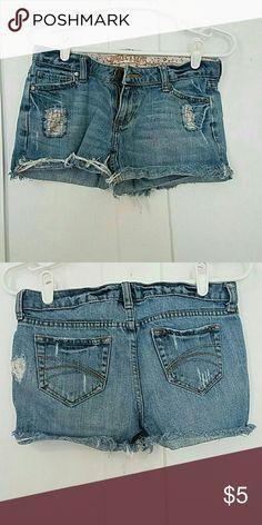 Shorts Decree size 3 shorts light wash Shorts Jean Shorts