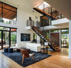 Multi-level home designed around music and family in Portland