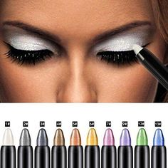Eyeshadow Pencil Bestpriceam Big Smokey Eyes Shimmer Eye Shadow Stick Jumbo Eye Shadow Eye Liner Pencil (White)