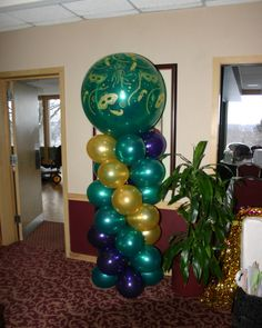 Mardi Gras Balloon Column Black Hawk CC