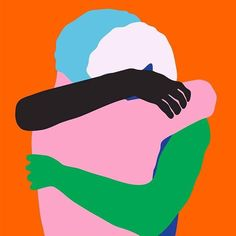 São Paulo based designer Giovani Flores created Saudade / Thrown, a pair of emotive and colourful digital vector illustrations. Hug Illustration, Magazine Illustration, People Hugging, Graphic Art, Graphic Design, Pop Art, Art Drawings, Web Design, Vector Design