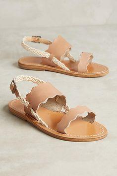45fc2350428e1 Slide View  1  Solange Scalloped Slingback Sandals Rope Sandals
