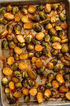 Ingredients       3 tbsp. extra-virgin olive oil   2 tbsp. sweet chili sauce   1 tbsp. sriracha   Juice of 1 lime   3 cloves garlic, minced   2 lb. Brussels sprouts, trimmed and halved (quartered if large)   kosher salt   Freshly