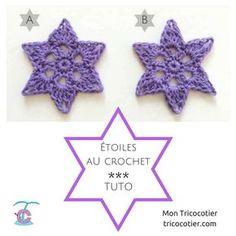 2 tutos pour 2 jolies étoiles au crochet. Fêtes de Noël Free pattern. Stars. Christmas http://tricocotier.com