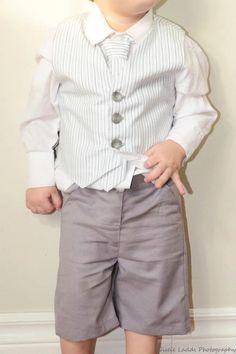 NEW  Baby Toddler Boys Vest - Waistcoat- Blue-Grey-White Stripes.