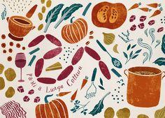 Gennaro Contaldo 'Let's Cook Italian Illustration' by Sara Mulvanny Gennaro Contaldo, Food Patterns, Creative Industries, Freelance Illustrator, Food Illustrations, Textile Art, Food Art, Sketches, Design Inspiration