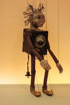marionette Tesla marioneta puppet ooak por Etceteramarionetas