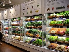 "Previous Pinner wrote: ""You can not help but utter ""Wow"" when you enter Eataly as I did recently when visiting Chicago for my annual girls' weekend. Supermarket, Vegetable Shop, Organic Market, Fresh Market, Fruit Shop, Fruit Fruit, Little Lunch, Food Retail, Food Design"