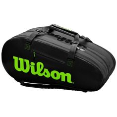 Carry the bag the pros carry with the Wilson Super Tour 3 Compartment Tennis Bag. This bag holds up to 15 rackets and includes a plethora of features optimized for serious tennis players: dual air vents to let your equipment and gear breathe, Thermoguard lining to protect objects from extreme heat, and an interior hidden zippered pocket to house valuables you like to carry with you on the road.  . . . #Wilson #WilsonTennisBag #WilsonBags #TeamBags #3CompartmentTennisBag #SuperTour…