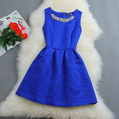 Women Dress Casual Vestidos De Fiesta 2015 Summer Style Vintage Cocktail Cute Short Party Dress Elegant Black White Pink Blue-in Dresses from Women's Clothing & Accessories on Aliexpress.com | Alibaba Group