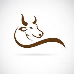 Find Vector Bull Design On White Background stock images in HD and millions of other royalty-free stock photos, illustrations and vectors in the Shutterstock collection. Cow Logo, Farm Logo, Bull Tattoos, Taurus Tattoos, Toro Vector, Vector Graphics, Vector Art, Bull Images, Lapin Art