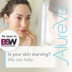 Is your skin starving? We can help. #AlureVe #nourish
