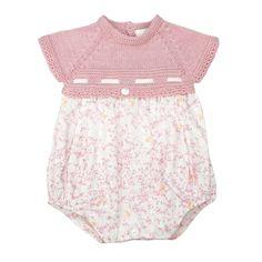 Wedoble ribbon rose romper | Portuguese baby clothes | Spanish baby clothes | knitted baby clothes