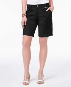 Style & Co Zippered-Pocket Shorts, Only at Macy's - Black 12