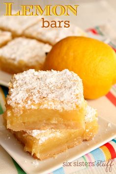 You will love these thick and chewy lemon bars bursting with lemon flavor!