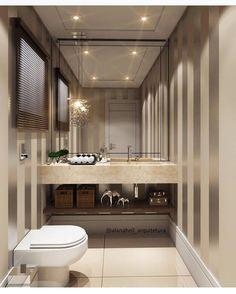 """340 curtidas, 8 comentários - ⠀⠀⠀⠀⠀⠀⠀⠀⠀⠀⠀⠀⠀⠀⠀⠀ARQTIVA (@arqtiva) no Instagram: """"Banheiro com toque clássico ❤️  Projeto de @alanaheil_arquitetura  via @repertoriocasa"""""""