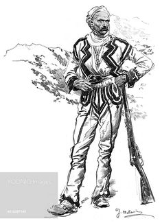 A Typical Albanian Soldier 1914 -   Illustred London News