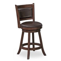 Woodbridge Home Designs 24 Swivel Bar Stool with Cushion