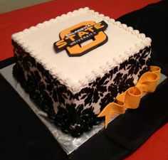 Oklahoma State Cowboys cake - Go Pokes! Maybe change that pattern to stripes for Kyle's grad party.