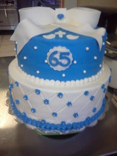 65th Wedding Anniversary Cake for a very special family friend.