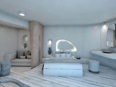 Indoor Architecture Aloni Hotel, ParosParos2018 - 2019PrivateWork in progress290 m2 Blue Design, Modern Design, Room Interior, Interior Design, Paros, Hotel Architecture, Hotel Reception, Villa Design, Cozy Corner