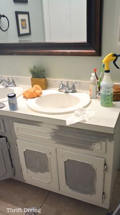 How to Paint a Bathroom Vanity - Thrift Diving Blog6715