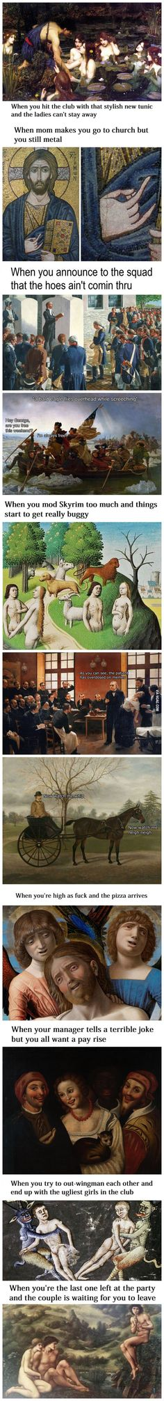 """Classical Art Memes Latest (Part-1)""---Hahaha---thanks, Stephanie!!! The ""wingman"" one was my favorite..."