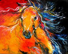 abstract wolf painting   by mbaldwinfineart , July 22, 2008—12:00 AM