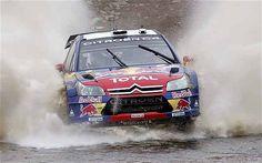 Citroen C4 WRC Rally Car driven by Sebastien Loeb.