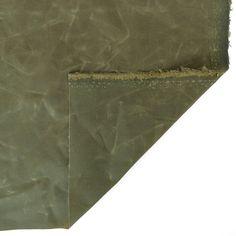 Waxed Cotton Canvas - Military | Blackbird Fabrics Waxed Canvas, Cotton Canvas, Military, Blackbird, Fabrics, Rain, Note, Medium, Natural