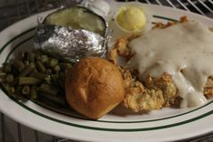Kendall's Restaurant in Noble Oklahoma serving chicken fried steak, potatoes, green beans, biscuit with a complimentary Cinnamon roll. | TravelOK.com - Oklahoma's Official Travel & Tourism Site