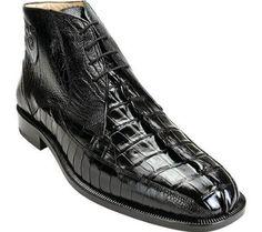 Belvedere Men's Rico Exotic Shoes,Black Crocodile Hornback/Ostrich,9.5 M US  Belvedere