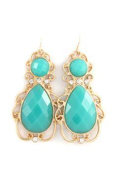 Abigail Filigree Earrings in Turquoise