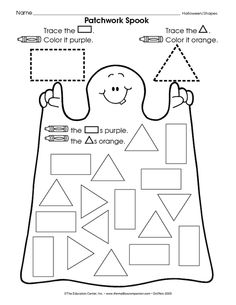 This October provide a fun basic shape review! Square and