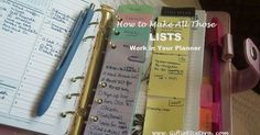 How to Make Lists Work Better in Your Planner; To Do Lists, Recurring Lists, and Running Lists